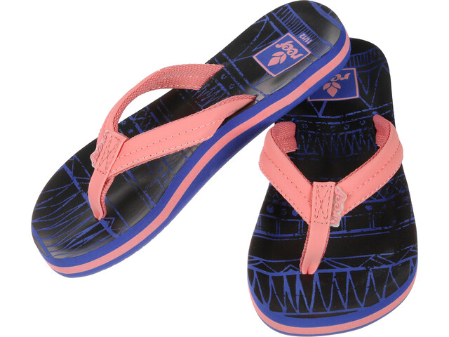Reef Little Ahi Lite Claquettes Fille, navy/coral